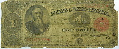 1891 $1 Dollar US Treasury Star Note Good