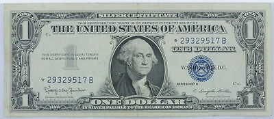 1957 Series US $1 One Dollar Star Note Silver Certificate Small Note P254090