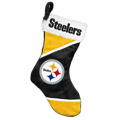 "Pittsburgh Steelers Holiday 17"" Christmas Stocking Team Logo New for 2014"