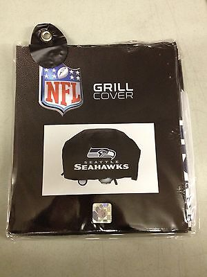 Seattle Seahawks Economy Team Logo BBQ Gas Propane Grill Cover - NEW