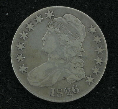 1826 50 Cent Capped Bust Half Dollar Coin 279027