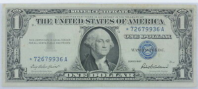 1957 Series US $1 One Dollar Star Note Silver Certificate Small Note P254089
