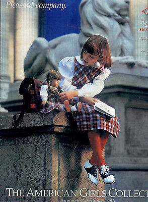 1993 Retired Pleasant Company Catalog! Molly Plaid Jumper Cover! Our New Baby!