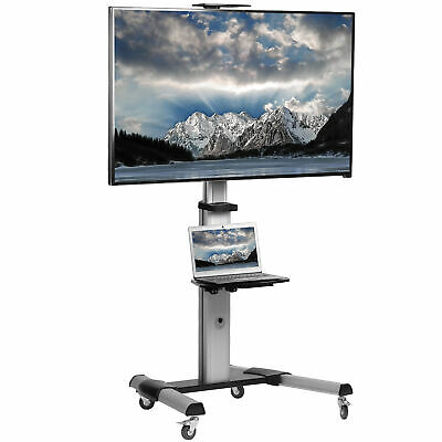 "VIVO Heavy Duty TV Cart for Flat Screen Panel Mobile Stand fits 37"" to 70"""