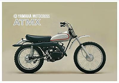 YAMAHA Poster ATMX AT3 Based MX125 Trail 1972 1973 VMX Superb Suitable to Frame