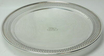 Tiffany & Co Sterling Silver Monogrammed Wedding Plate