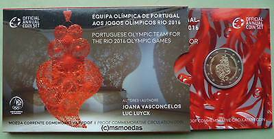 Portugal 2 Euro Gedenkmünze 2016 Rio Coin Set Blister Official Set Proof PP