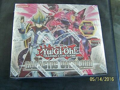 Yu-gi-oh Yugioh Galactic Overlord Factory Sealed 1st Edition Booster Box 24 pks