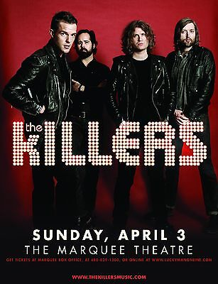 KILLERS 2016 PHOENIX CONCERT TOUR POSTER-Alt/Indie/Heartland Rock,New Wave Music
