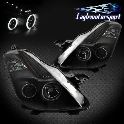 [Dual CCFL Halo] For 2008 2009 Nissan Altima Coupe Black Projector Headlights