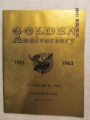 1963 Book Golden Anniversary Tell City IN Order of Moose Lodge 1424 Photos & Ads