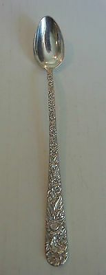 "VINTAGE S. KIRK & SON ""REPOUSSE"" STERLING SILVER ICED TEA SPOON, 40 grams"