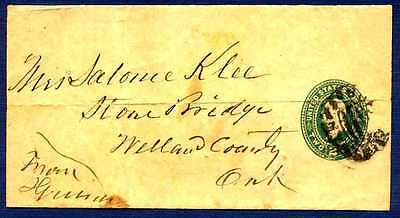 U.S.-1887/1894-Cover sent to Welland County Ontario