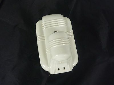 Antique Art Deco Wall Light Socket Porcelain Ceramic w Outlet Paulding Square