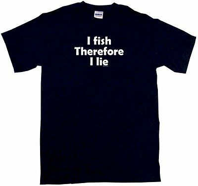 I Fish Therefore I Lie Kids Tee Shirt Boys Girls Unisex 2T-XL