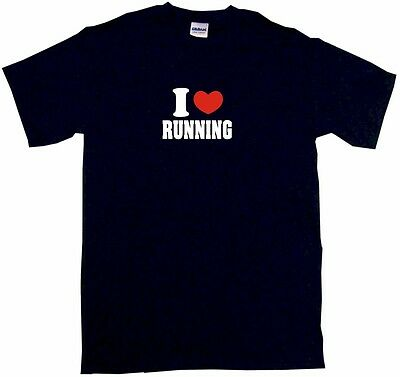 I Heart Love Running Kids Tee Shirt Boys Girls Unisex 2T-XL