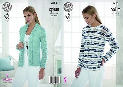 KCP-4186 King Cole Ladies Waistcoat /& Slipover Opium Knitting Pattern 4186