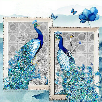 5D Diamond Embroidery Painting DIY Peacock Mosaic Stitch Craft Kit Cross Tools