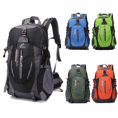 40L Waterproof Backpack Outdoor Sports Travel Hiking Camping Rucksack School Bag