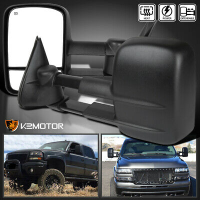 99-02 Chevy Silverado/Sierra Power+Heated Telescoping Towing Mirrors Left+Right