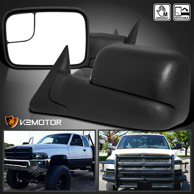 94-01 Dodge Ram 1500 94-02 2500 3500 MANUAL Flip Up Towing Mirrors Left+Right