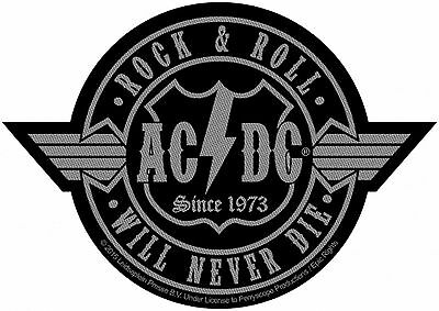AC/DC ACDC - Patch Aufnäher - Rockn Roll will never die (Cutout) 9x9cm