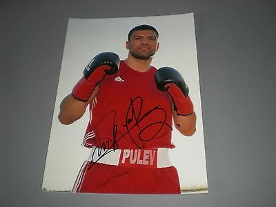 Terwel Pulev Boxer signed signiert autograph Autogramm auf 20x28 Foto in person