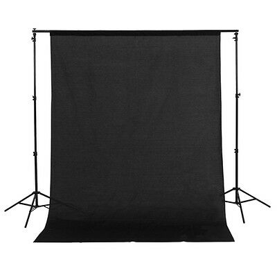 1.5m x 3m Cotton Muslin Photo Photography Backdrop Studio Background Cloth Black
