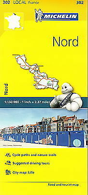Michelin Map 302 Nord France Local Map Road and Tourist