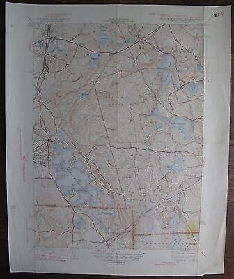 1946 Oxford QUAD Geological Survey Map 17x21 (Ma/Ct./RI) Douglas, Webster, etc