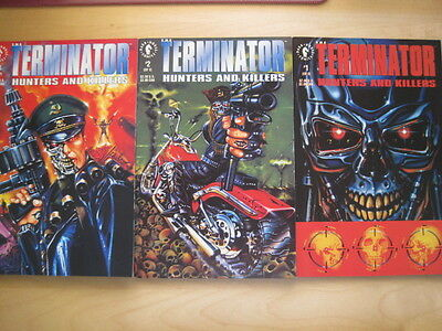 "Terminator :  ""hunters & Killers"" Complete 3 Issue Mini Series. Dark Horse.1992"