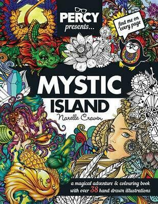 Percy Presents: Mystic Island: An Adult Colouring Book with Original Hand Drawn