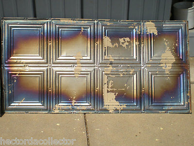 8 Iridescent Antique Carnival Ceiling Tin Tiles Simple Elegant Frame Canvas Chic