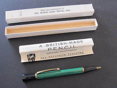 Boxed Advertising Mechanical Propelling Pencil Enfield Cable Works Ltd Unused