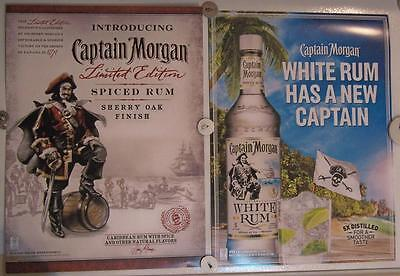 New Lot of 2  Store Display Paper Posters CAPTAIN MORGAN SPICED RUM & White