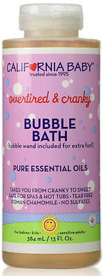 California Baby Aromatherapy Bubble Bath Overtired and Cranky 13 oz ~Natural&Fun
