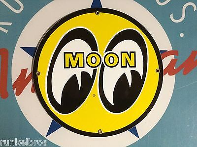 classic MOON EYES speed equipment & auto parts - PORCELAIN COATED METAL SIGN