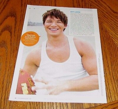 MATT LANTER Young Male Celebrity Hunk in Tank Top Magazine Clipping Pic Actor