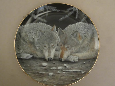 WOLF collector plate SERENITY Eric Renk ETERNAL UNITY Danbury Mint WOLVES