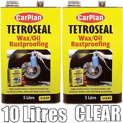 Tetrosyl Carplan Waxoyl Rustproof Protector CLEAR 10 Litre - CarPlan Wax Oil