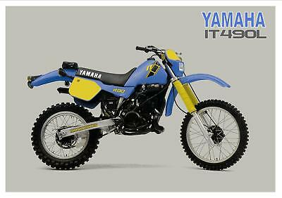 YAMAHA Poster IT490 IT490L VMX Enduro 1984 Suitable to Frame