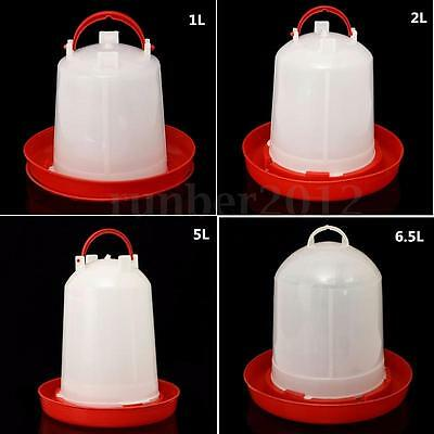 Poultry Birds Feeder Water Drinking Cups Chicken Hen Fowl Feed Drinkers 1-6.5L