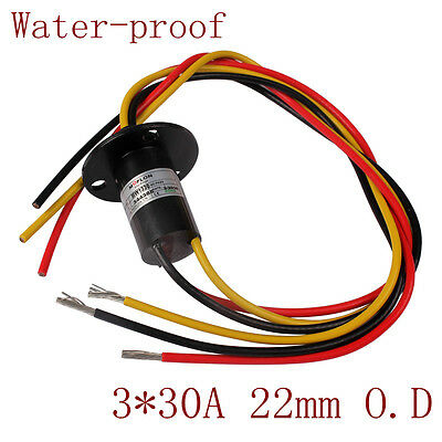 Heavy 3 phase 30A 3 Wires 600VDC/VAC Wind Generator Slip Ring for Wind Turbine