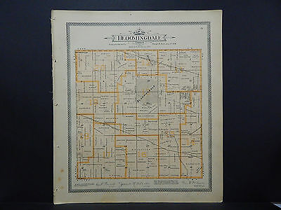 Illinois, Du Page County Map c. 1904 Bloomingdale Township L16#47