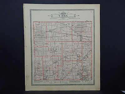 Illinois Du Page County Map c 1904 York Township, Cities of Lombard, Elmhurst