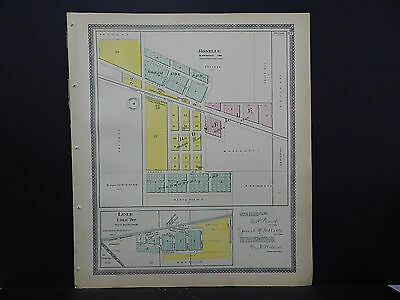 Illinois Du Page County Map c 1904 City of Roselle and Lisle L16#50