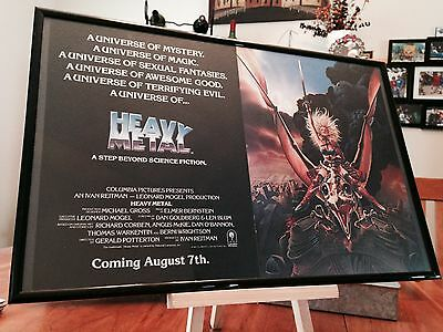 "Big 11X17 Framed Original ""heavy Metal"" Movie Soundtrack Lp Album Cd Promo Ad"