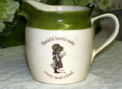 Holly Hobbie Cream Pitcher Green And Ivory From Country Living 1978