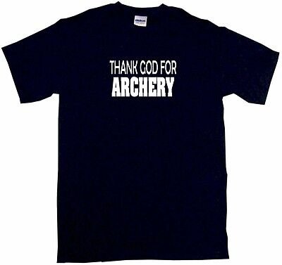 Thank God For Archery Kids Tee Shirt Boys Girls Unisex 2T-XL