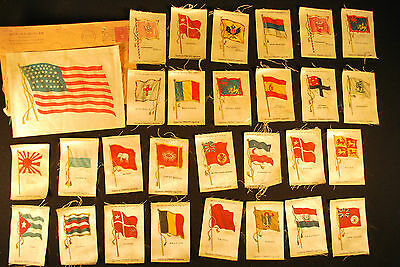 29 Egyptienne Straights Cigarettes Flags with 46 Star U.S. Flag / Dated 1912